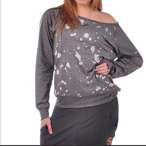 Nike dry fit paint splatter sweat shirt